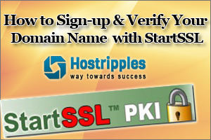 Sign-up with StartSSL
